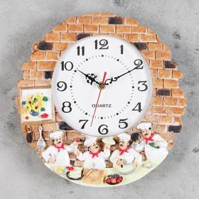 "Wall clock, series: the Kitchen, the ""Ducasse"", d=20 cm, handmade"