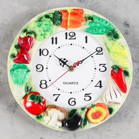 "Wall clock, series: the Kitchen, the ""Timbal"", d=20 cm, handmade"