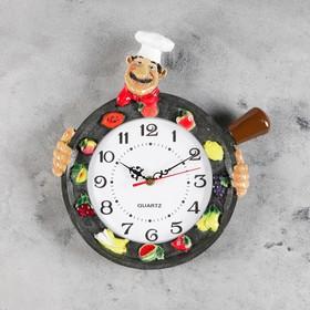 """Часы настенные, серия: Кухня, """"Валанс"""", d=20 см, ручная работа"""