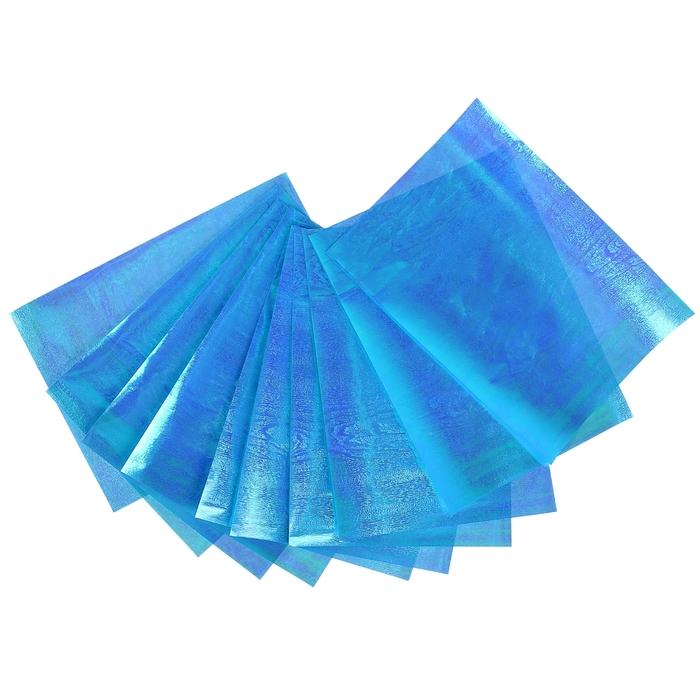 """Бумага для творчества перламутровая """"Фактура дерева голубая"""" А4, набор 10 листов"""