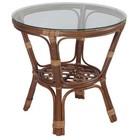 Стол прямоугольный, из натурального ротанга, цвет орех матовый, «Маркос»
