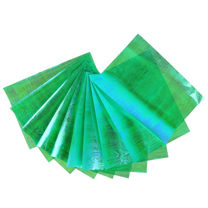 """Бумага для творчества перламутровая """"Фактура дерева зелёная"""" А4, набор 10 листов"""