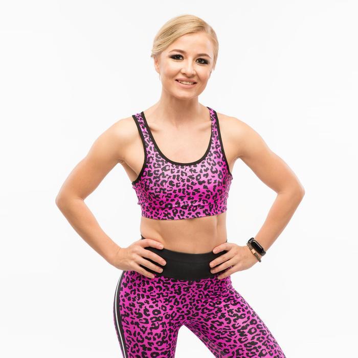 Топ-бра женский спортивный, цвет пурпурный, размер 40-42 (S)