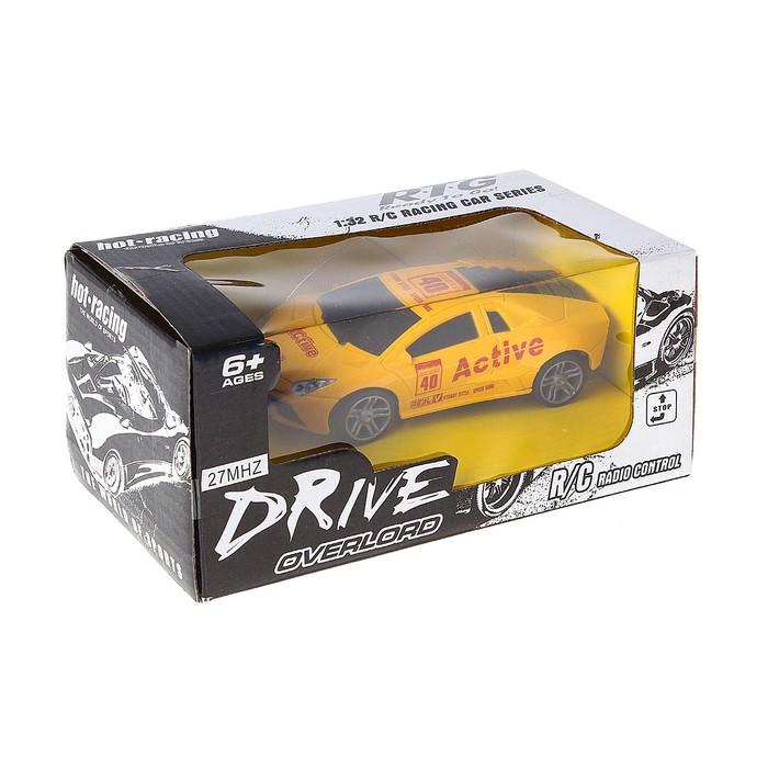 """Машина радиоуправляемая """"Гонка"""", масштаб 1:32, работает от батареек, цвета МИКС"""