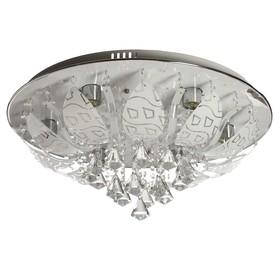 Люстра с ПДУ 52139025/6 E27 60Вт+LED подсветка 60х60х20 см