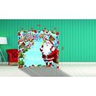 """Фотозона """"С Новым Годом! Весёлый Санта Клаус"""" 210×190 см"""