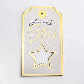 Шильдик «Звезда», 10,5 х 19 см