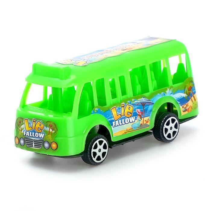 Автобус инерционный, цвета МИКС
