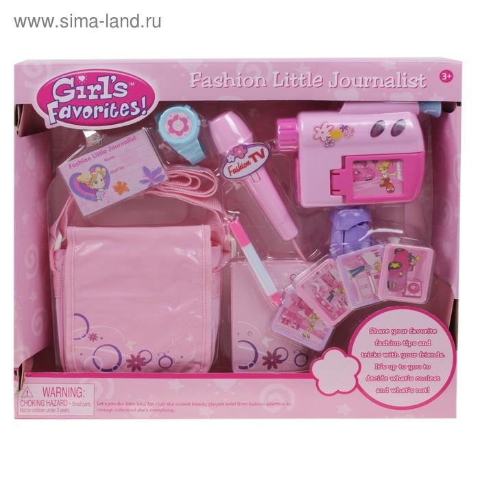 Набор аксессуаров для девочки с видеокамерой и микрофоном, 11 предметов