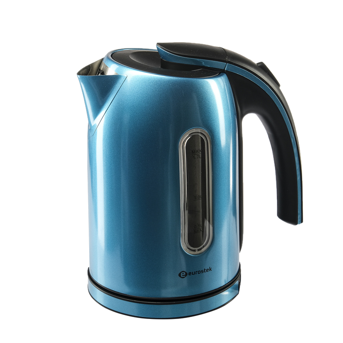 Чайник электрический EuroStek ЕЕК-2214, 2200 Вт, 1.7 л, металл, бирюзовый