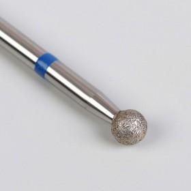 Фреза алмазная для маникюра «Шар», средняя зернистость, 3,5 мм