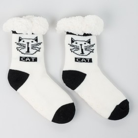 Носки детские с мехом внутри, цвет белый, размер 16-18 (24-27)