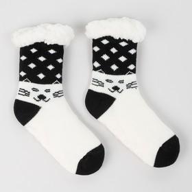Носки детские с мехом внутри, цвет белый, размер 18-20 (28-31)