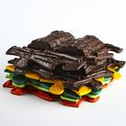 Детский массажный коврик Лесной, 12 модулей, цвет Микс - фото 105574838