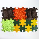 Детский массажный коврик Лесной, 12 модулей, цвет Микс - фото 105574840