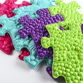 Детский массажный коврик Морской, 14 модулей, цвет Микс