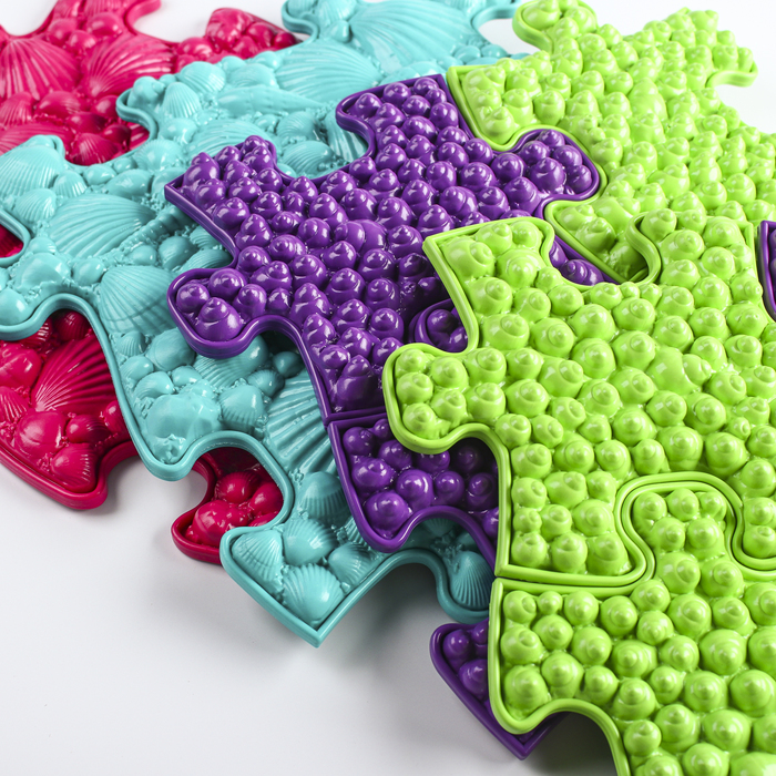 Детский массажный коврик «Морской», 14 модулей, цвет Микс