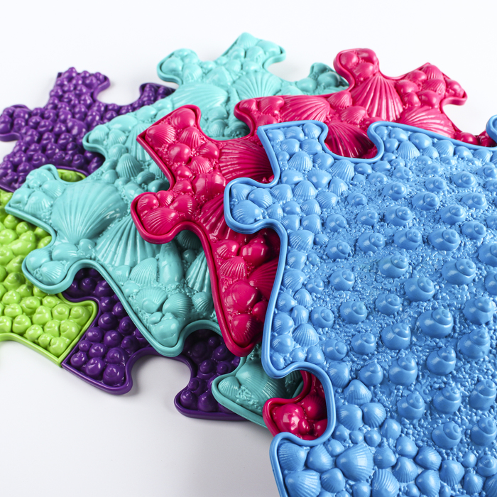 Детский массажный коврик «Морской - 2», 15 модулей, цвет Микс