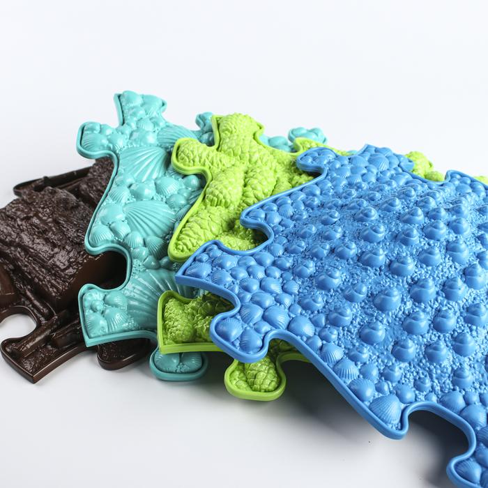 Детский массажный коврик Микс, 16 модулей, цвет Микс - фото 1868141