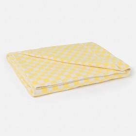 Одеяло байковое, размер 140х205 см,, цвет клетка/МИКС