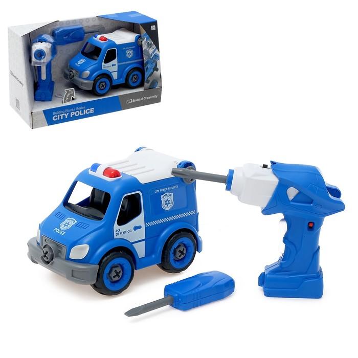 Конструктор винтовой «Полиция», с электрическим шуруповертом, радиоуправляемый, 21 деталь