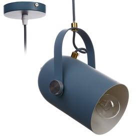 """Светильник """"Альтис"""" 1х60Вт E27 синий 15х11,5х25 см."""