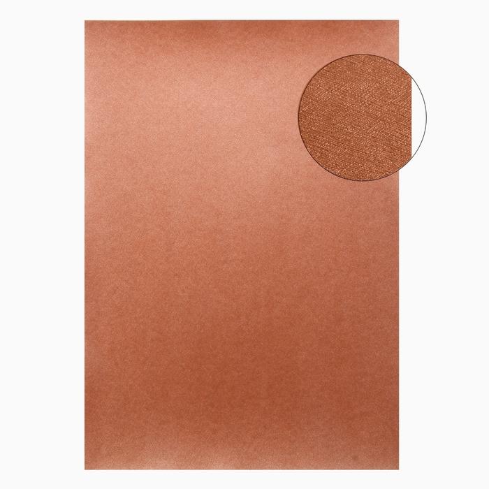"""Бумага для творчества фактурная """"Нити. Тёмное золото"""" А4, набор 100 листов"""