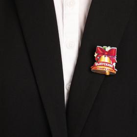 """Badge mascot """"Graduate kindergarten"""", bell, 3 x 4 cm"""