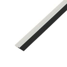 Уплотнитель для дверей 40 мм x 1 м, прочный профиль, белый