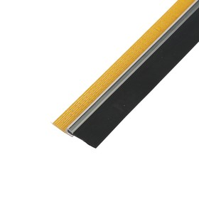 Weatherstrip for doors 40 mm x 1 m, solid profile, clear