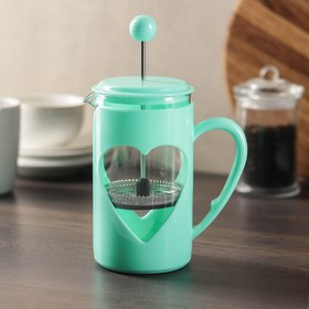 """French press 600 ml """"Compliment"""" turquoise"""