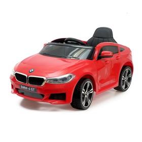 Электромобиль BMW 6 Series GT, цвет красный, EVA колеса, кожаное сидение