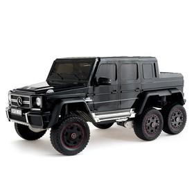 Электромобиль MERCEDES-BENZ G63 AMG 6x6», 6WD полный привод, цвет глянец черный, EVA