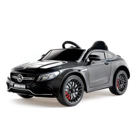 Электромобиль MERCEDES-BENZ C63 S AMG, цвет черный, EVA колеса