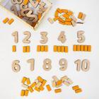 Деревянные цифры-раскраски