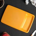 Доска разделочная с лотком 37×24 см Kleo, цвет оранжевый