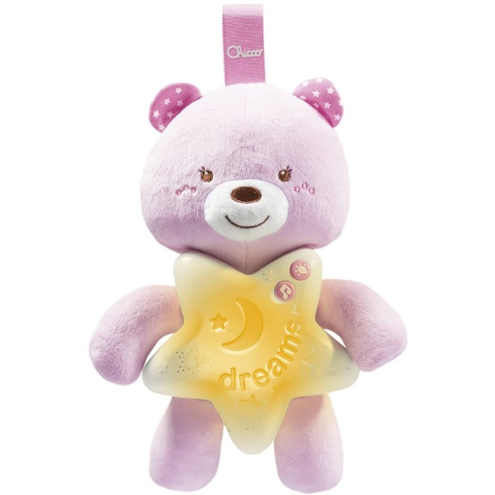 Игрушка-подвеска Chicco «Медвежонок», цвет розовый, от 0 месяцев