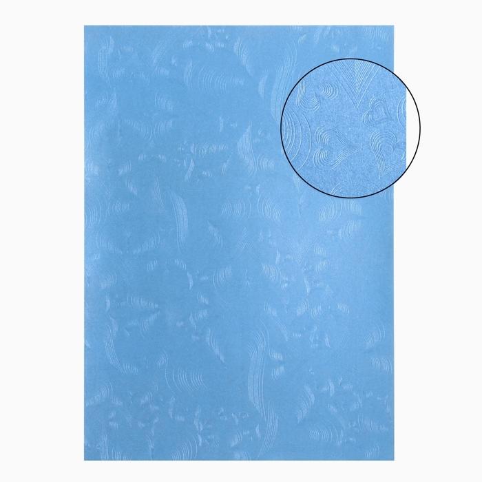 """Бумага для творчества фактурная """"Сердца голубые"""" А4, набор 100 листов"""