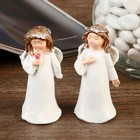 "Souvenir Polyresin ""angel in a white dress with a wreath on his head"" MIX 7,5x3,3x3 cm"