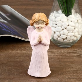 "Souvenir Polyresin ""angel-girl with two knobs in colored dress"" MIX 14,8x5,5x5 cm"