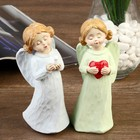 """Souvenir Polyresin """"angel-girl with two knobs in colored dress"""" MIX 14,8x5,5x5 cm"""