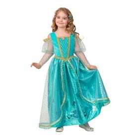 Карнавальный костюм «Принцесса Ариэль», текстиль-принт, платье, брошь, заколка, р. 28, рост 110 см