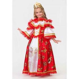 Карнавальный костюм «Герцогиня», платье, подъюбник, корона, р. 34, рост 134 см