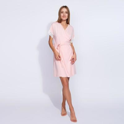 Robe with short sleeves MINAKU, size 50, color peach