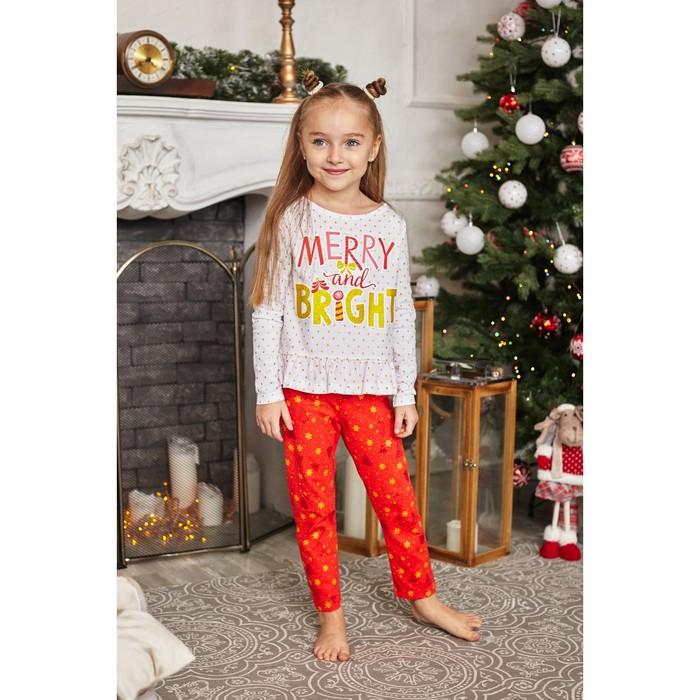 """Пижама детская KAFTAN """"Bright"""" р.30 (98-104), красный/белый - фото 76224774"""