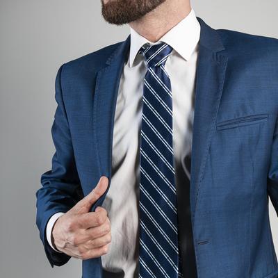 Tie dark gray square