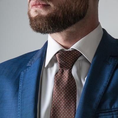 Tie dark brown square
