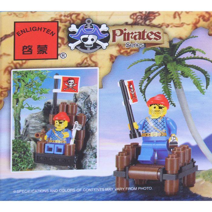 Конструктор «Пират на плоту», 34 детали