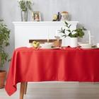 Скатерть Доляна «Пудра» цвет красный, 110×150 см, 115 ± 10 г/м², 100% п/э