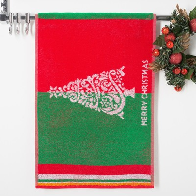 Terry towel Christmas Trees 6, size 50х30 cm, 100 % cotton